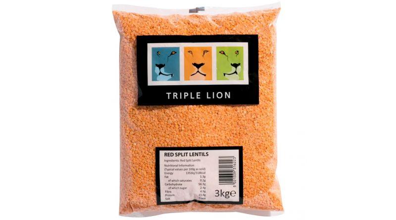 Triple Lion Red Spilt Lentils e3Kg