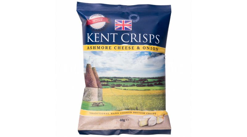 Kent Crisps GF - Ashmore Cheese & Onion 4 x 40g