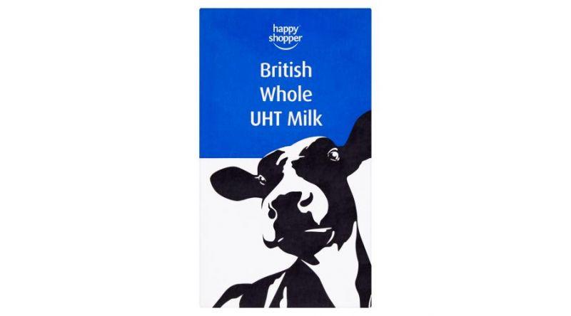 British Whole UHT Case - 12 x 1L Per Case
