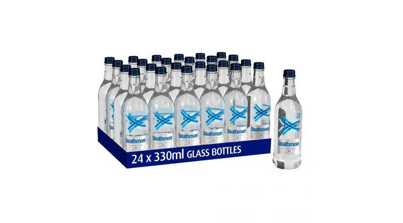 Strathmore Glass Bottle Still Spring Water  24 x 300ml