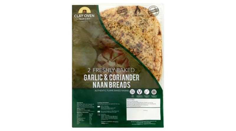 The Clay Oven Bakery Clay Oven Bakery 2 Large Stretched Naan Bread 360g