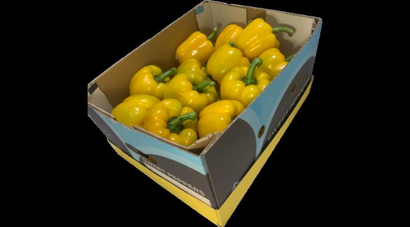 Fresh Yellow Pepper salads