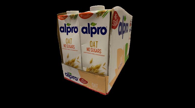 Alpro Oat Unsweetened Milk Case - 8L Per Case