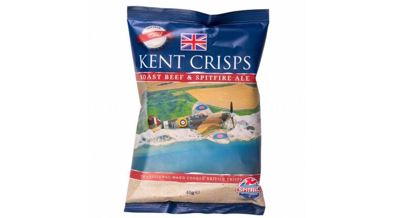 Kent Crisps - Roast Beef & Spitfire Ale (Pack of 4 x 40G)