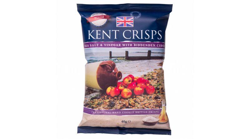Kent Crisps GF - Sea Salt & Cider Vinegar with Biddenden Cider (Pack of 4 x 40G)