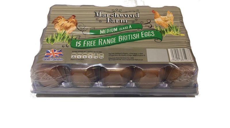 Marshwood Farm Free Range Medium Eggs (15)
