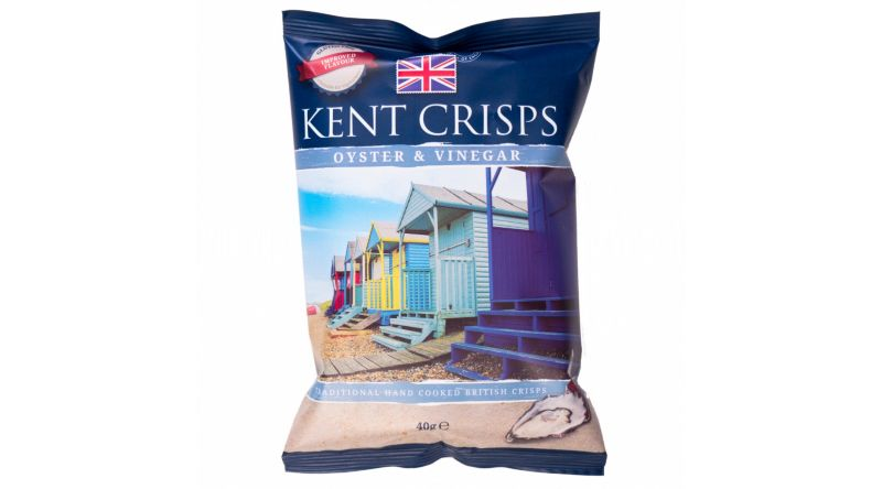 Kent Crisps GF - Oyster & Vinegar (Pack of 4 x 40G)
