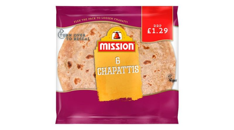 Mission bakery 6pk Chapatis 348g