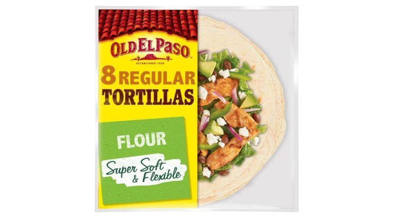 Old El Paso Regular Super Soft Flour Tortillas 8Pk 326G