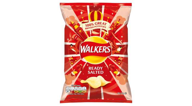 Walkers - Ready Salted (Pack of 4 x 32.5G)