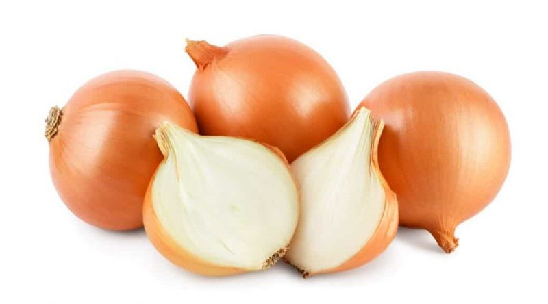 Fresh White Onions Vegetables