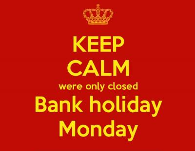 Late May Bank Holiday 2021 Closure